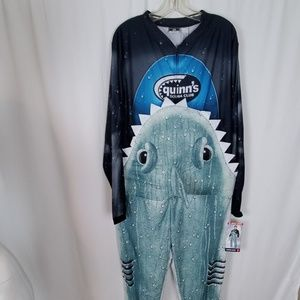 Briefly Stated Shark Eating Scuba Diver Outfit
